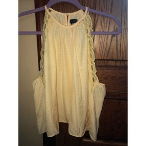 Kendall & Kylie Yellow Tank Top